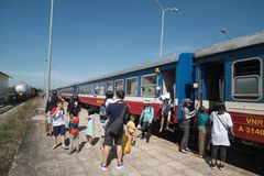 Station de train de Phan Thiet Image libre de droits