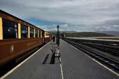 Station de train de Portmadog photos stock