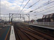 Station de train de Redfern, Sydney, Australie au temps de matin image libre de droits