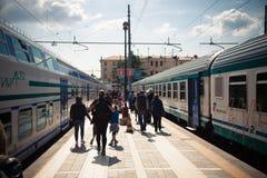 Station de train Santa Lucia à Venise Photographie stock libre de droits