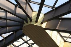 Station de train, toit, lumière du jour, architecture photo stock