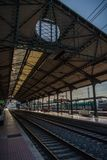 Station de train, Valladolid, Espagne photographie stock