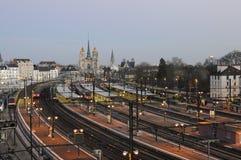 Station de trains, Dijon Photos libres de droits
