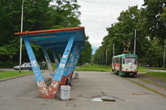 Station de tram image libre de droits
