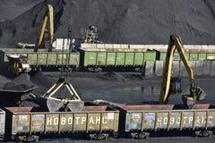 Station de transfert de charbon près de Riga, Letvia, pays Baltes, l'Europe images stock