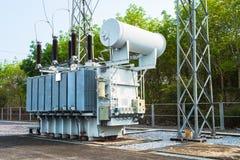 Station de transformateur Image stock