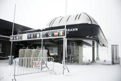 Station de transport de funiculaire de Karlesjochbahn au Tyrol, Autriche Image libre de droits