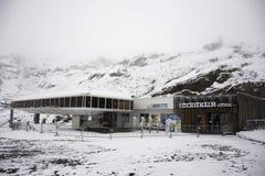 Station de transport de funiculaire de Karlesjochbahn au Tyrol, Autriche Photo libre de droits