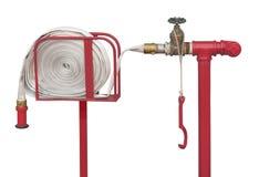 Station de tuyau d'incendie d'isolement Photos stock