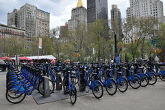 Station de vélo de Citi à Manhattan Photos libres de droits