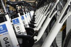 Station de vélo, Madrid Images libres de droits