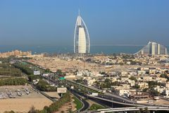 Station de vacances à Dubaï Photo stock
