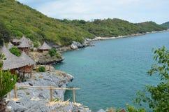 Station de vacances à la falaise Photo stock