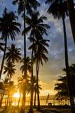 Station de vacances asiatique de lever de soleil photographie stock libre de droits