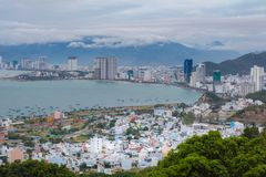 Station de vacances asiatique Nha Trang Vietnam Photographie stock