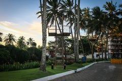 Station de vacances avec Zipline photos stock