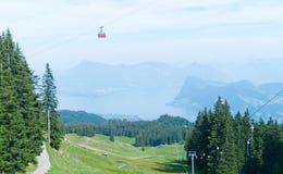 Station de vacances d'Alpes Photographie stock libre de droits