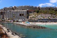Station de vacances d'Anfi Del Mar près d'Arguineguin dans mamie Canaria, Espagne Photo libre de droits