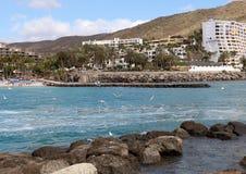 Station de vacances d'Anfi Del Mar près d'Arguineguin dans mamie Canaria, Espagne Photographie stock libre de droits