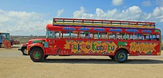 Station de vacances d'Aruba sur la mer des Caraïbes Photos stock