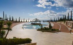 Station de vacances d'hôtel avec la piscine Image libre de droits