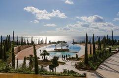 Station de vacances d'hôtel avec la piscine Photos stock