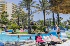 Station de vacances d'hôtel dans le sousse Photos libres de droits