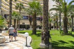 Station de vacances d'hôtel dans le sousse Photo libre de droits