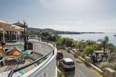 Station de vacances d'hôtel dans Pefkos Photographie stock libre de droits