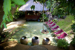 Station de vacances d'hôtel en Thaïlande Image libre de droits
