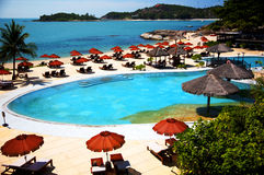 Station de vacances d'hôtel en Thaïlande Photos libres de droits