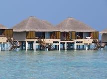 Station de vacances dans le paradis d'île des Maldives Photographie stock