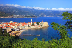 Station de vacances de Budva Photos stock