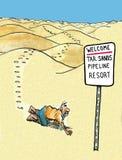 Station de vacances de canalisation de sables bitumeux Image libre de droits