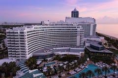 Station de vacances de Fontainebleau, Miami, la Floride Photos libres de droits