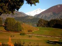 Station de vacances de golf de l'Argentine de Patagonia Image stock