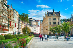 Station de vacances de Karlovy Vary Hot Springs Photographie stock libre de droits