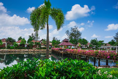 Station de vacances de Klong Prao Cottages sur la baie dans un jardin tropical Image libre de droits