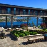 Station de vacances de Kragerø - un beau matin Images libres de droits