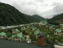 Station de vacances de Krasnaya Polyana Images libres de droits