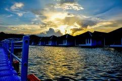Station de vacances de lac Photographie stock libre de droits