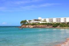 Station de vacances de luxe de bord de mer, Guadeloupe image libre de droits