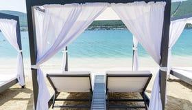 Station de vacances de luxe de mer dans Bodrum, Turquie Photo stock