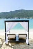 Station de vacances de luxe de mer dans Bodrum, Turquie Images stock