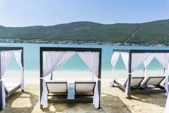 Station de vacances de luxe de mer dans Bodrum, Turquie Images libres de droits