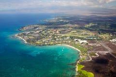 Station de vacances de Marriott de plage de Waikoloa, grande île, Hawaï Image stock