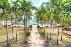 Station de vacances de Nirwana à la baie de Lagoi, Bintan, Indonésie Photo libre de droits