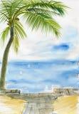 Station de vacances de Palm Beach Image stock