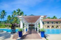 Station de vacances de paradis Image libre de droits