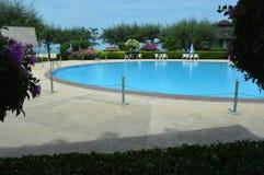 Station de vacances de piscine Images stock
